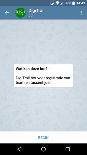 DigiTrailBot startscherm